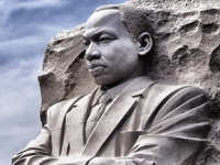 MLK statue in stone